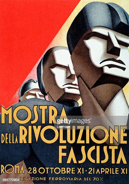 Fascist propaganda poster for the Exhibition of the Fascist Revolution Mostra della Rivoluzione Fascista 1933 Private collection
