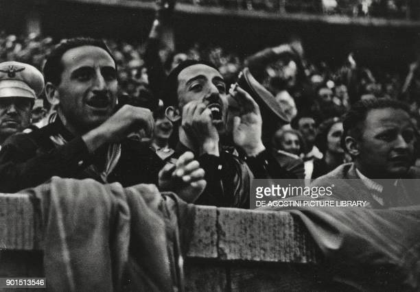Fascist supporters at the Berlin Olympics Germany from L'Illustrazione Italiana Year LXV No 22 May 29 1938