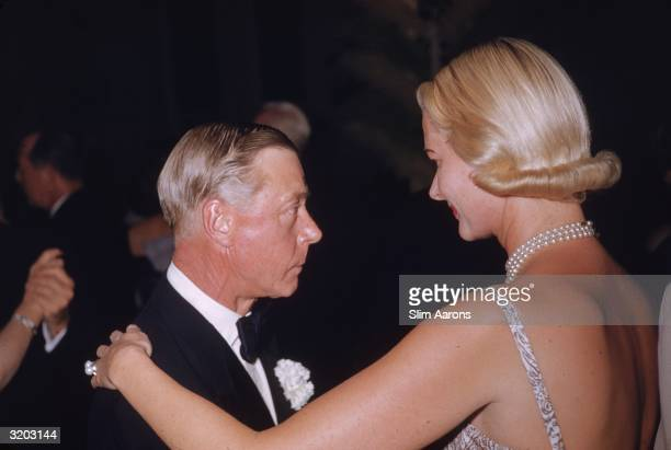 Fascist sympathizer and former King Edward VIII the Duke of Windsor dancing with American socialite CZ Guest at a polo ball held at the Boca Raton...