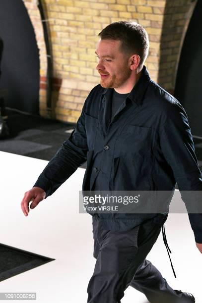Fashiobn designer Craig Green walks the runway at the Craig Green Fall/Winter 2019-2020 fashion show during London Fashion Week Men's January 2019 on...