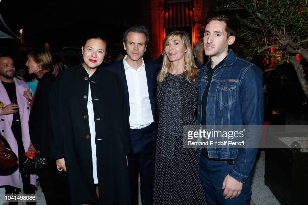 Fashion Accessories award 2018 Stephanie D'heygere President of Andam Guillaume Houze Founder of Andam Nathalie Dufour and Grand Prix 2018 creator of...
