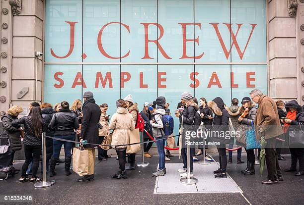 Fashion and budget conscious shoppers flock to the J Crew sample sale in New York Tuesday December 1 2015 J Crew posted a smaller loss during the...