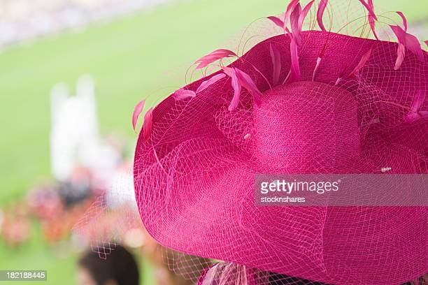 fashion at the races - hat stock pictures, royalty-free photos & images