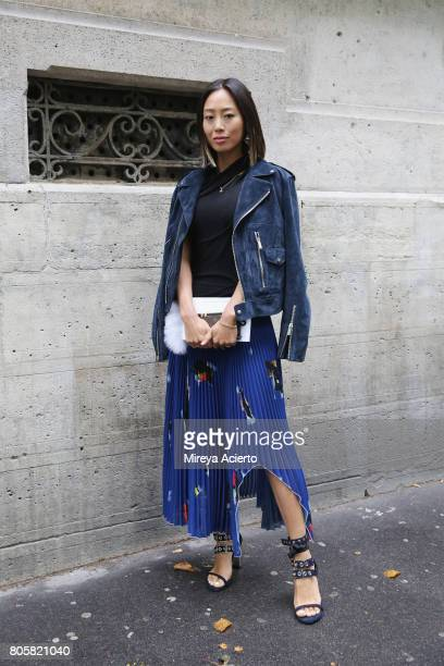 Fashion blogger Aimee Song attends the Proenza Schouler Haute Couture fashion show on July 2 2017 in Paris France