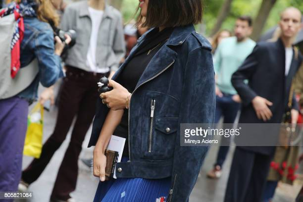 Fashion blogger Aimee Song fashion detail attends the Proenza Schouler Haute Couture fashion show on July 2 2017 in Paris France