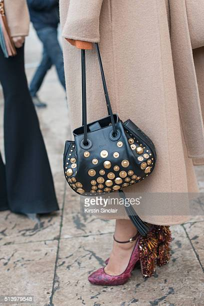 Fashion Blogger Aimee Song wears a Chloe bag and Rochas shoes on day 2 during Paris Fashion Week Autumn/Winter 2016/17 on March 2 2016 in Paris...