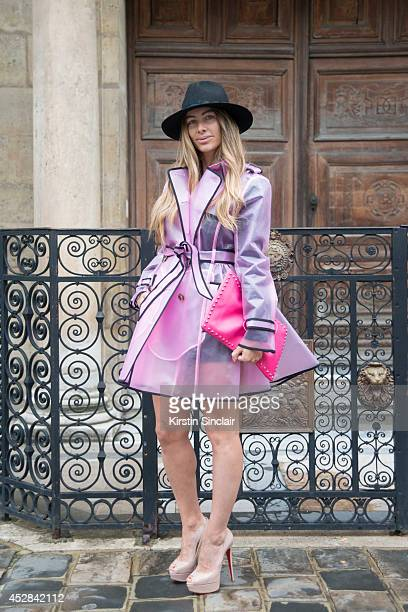 Fashion Blogger Alessia Maglia wearing a Valentino bag and coat, Christian Louboutin shoes, Stella McCartney dress and Zadig and Voltaire hat day 5...