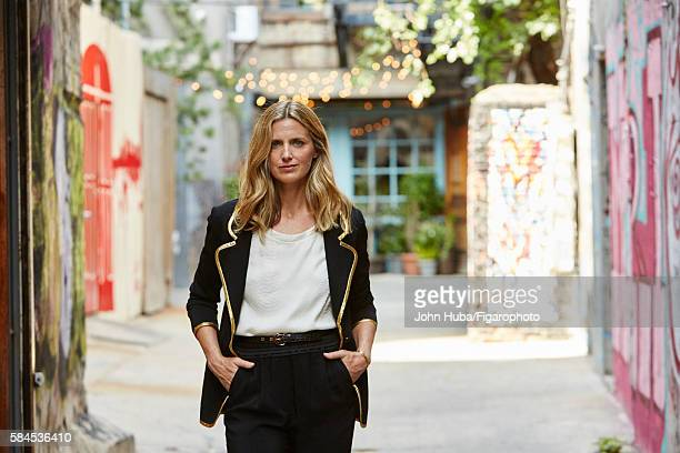 Fashion blogger and author Amanda Brooks is photographed for Madame Figaro on July 15 2015 in New York City Jacket pants personal tshirt CREDIT MUST...