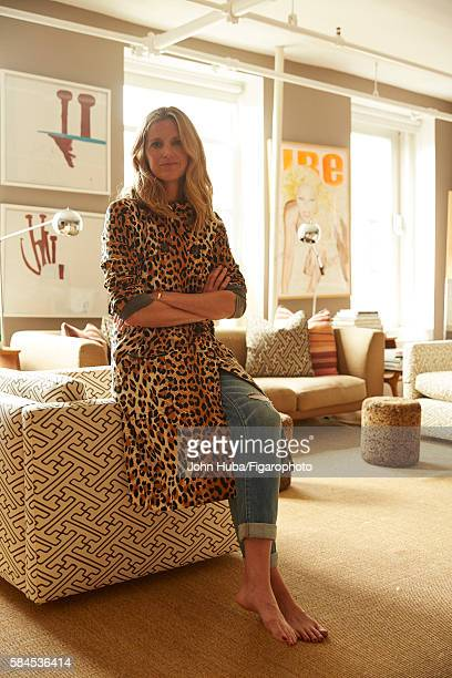 Fashion blogger and author Amanda Brooks is photographed for Madame Figaro on July 15 2015 in New York City Trench jeans PUBLISHED IMAGE CREDIT MUST...