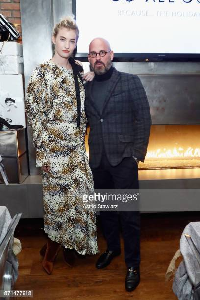 Fashion blogger and influencer Zanita Whittington and Executive Vice President of Sales Marketing and Creative at OUTNET Andres Sosa attend THE...
