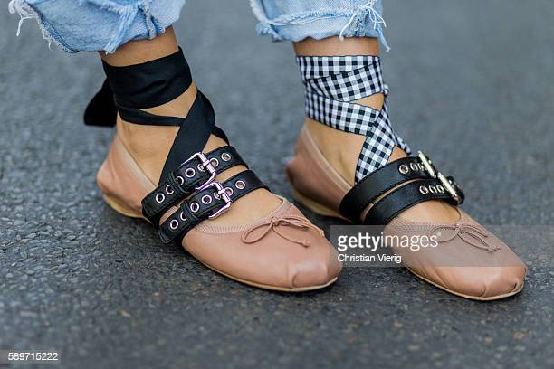 Fashion Blogger and Owner of SCIC Swimwear Sofia Grau wearing Miu Miu ballerinas shoes on August 15 2016 in Berlin Germany