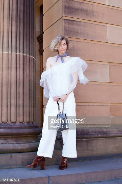 Fashion Blogger and Photographer Zanita Whittington during MercedesBenz Fashion Week Resort 18 Collections at Carriageworks on May 17 2017 in Sydney...