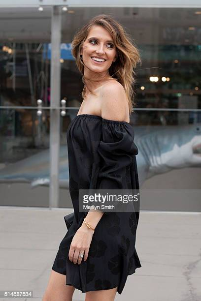 Fashion Blogger and TV Personality Kate Waterhouse wearing a Georgia Alice dress and Proenza Schouler bag during the 2016 Melbourne Fashion Festival...