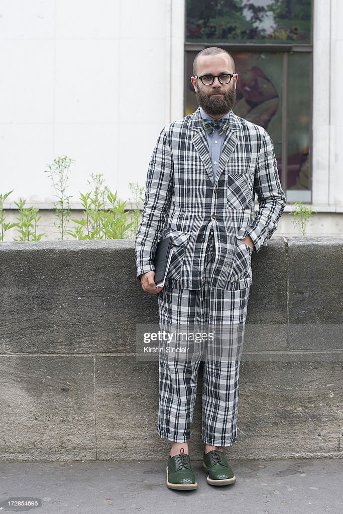 Fashion Blogger Angelo Flaccavento on day 2 of Paris Collections: Womens Haute Couture on July 02, 2013 in Paris, France.
