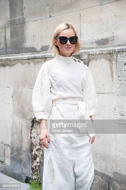 046572f98e Fashion Blogger Anna Borisovna wears a Zara dress Celine sunglasses and  bracelet day 2 of Paris
