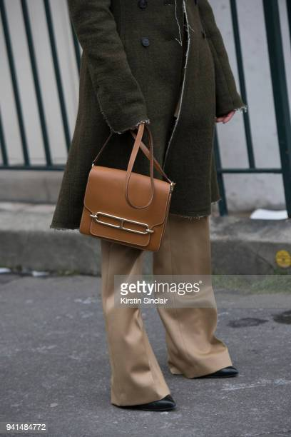 Fashion blogger Annabel Rosendahl wears all Carven and a Hermes bag day 4 of Paris Womens Fashion Week Spring/Summer 2018 on March 1 2018 in London...