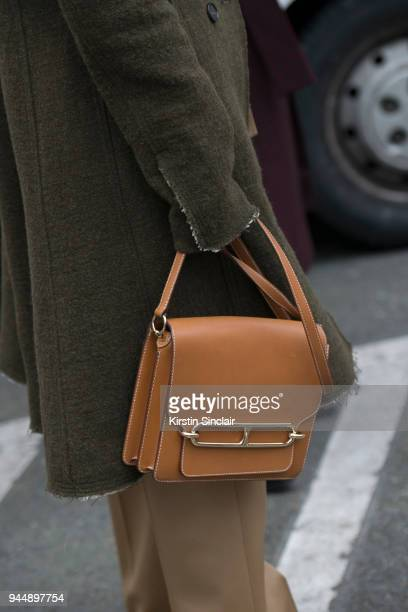 Fashion blogger Annabel Rosendahl wears all Carven and a Hermes bag on day 4 of Paris Womens Fashion Week Spring/Summer 2018 on March 1 2018 in...