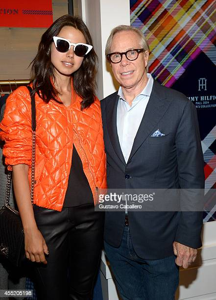 Fashion blogger Annabelle Fleur and designer Tommy Hilfiger celebrate the debut of Hilfiger Collection at Bloomingdale's on September 10 2014 in New...
