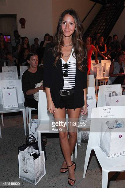 Fashion blogger Arielle Nachmani attends Athleta during MercedesBenz Fashion Week Spring 2015 at SIR Stage on September 3 2014 in New York City