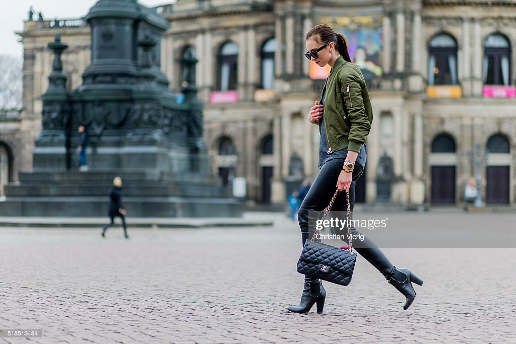 Street Style In Dresden - April 1, 2016 : News Photo