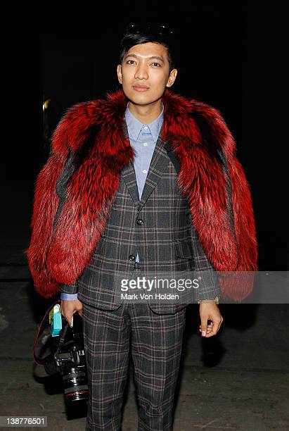 Fashion blogger Bryan Boy attends the Alexander Wang fall 2012 fashion show at Pier 94 on February 11 2012 in New York City