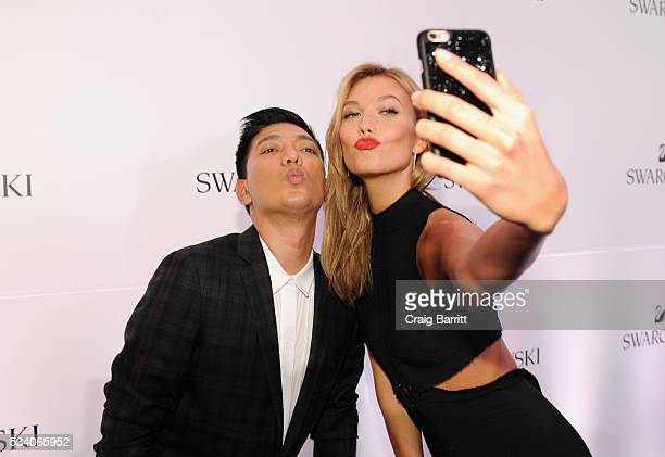 Fashion blogger Bryanboy and Swarovski brand ambassador Karlie Kloss attend Swarovski #bebrilliant at The Weather Room at the Top of the Rock on May...