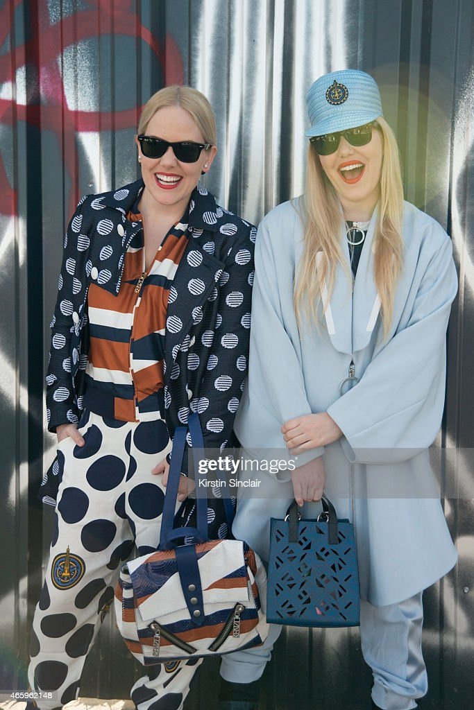 Fashion blogger Cailli Beckerman wears all Kenzo, Kenzo bag, and Ray Ban sunglasses. With Sam Beckerman wears all Kenzo and Kenzo bag on day 6 of Paris Collections: Women on March 08, 2015 in Paris, France.