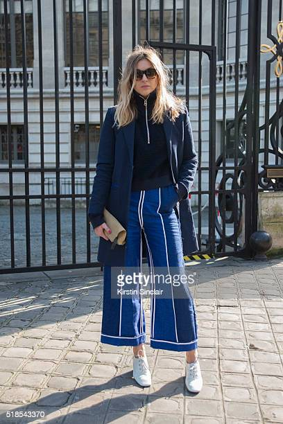 Fashion Blogger Camille Charriere wearing all Acne on day 5 during Paris Fashion Week Autumn/Winter 2016/17 on March 5 2016 in Paris France Camille...