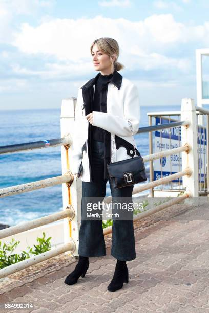 Fashion Blogger Carmen Hamilton wearing an Ellery jacket Proenza Schouler bag and ApieceÊApart top and pants during MercedesBenz Fashion Week Resort...