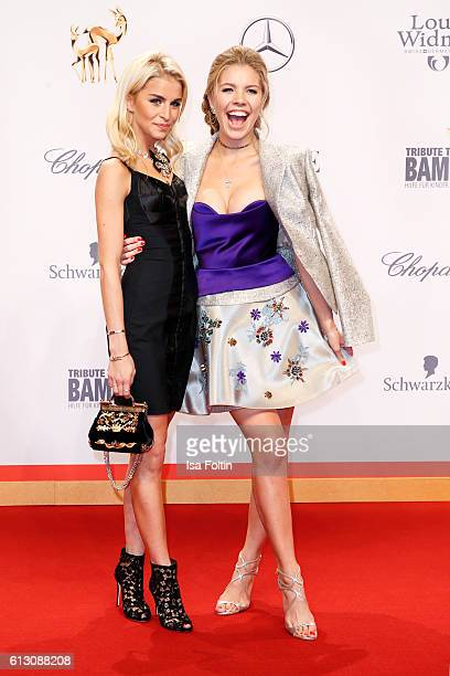 Fashion blogger Caro Daur and singer songwriter Victoria Swarovski attend the Tribute To Bambi at Station on October 6 2016 in Berlin Germany