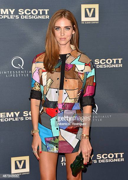 Fashion blogger Chiara Ferragni attends the premiere of The Vladar Company's Jeremy Scott The People's Designer at TCL Chinese 6 Theatres on...