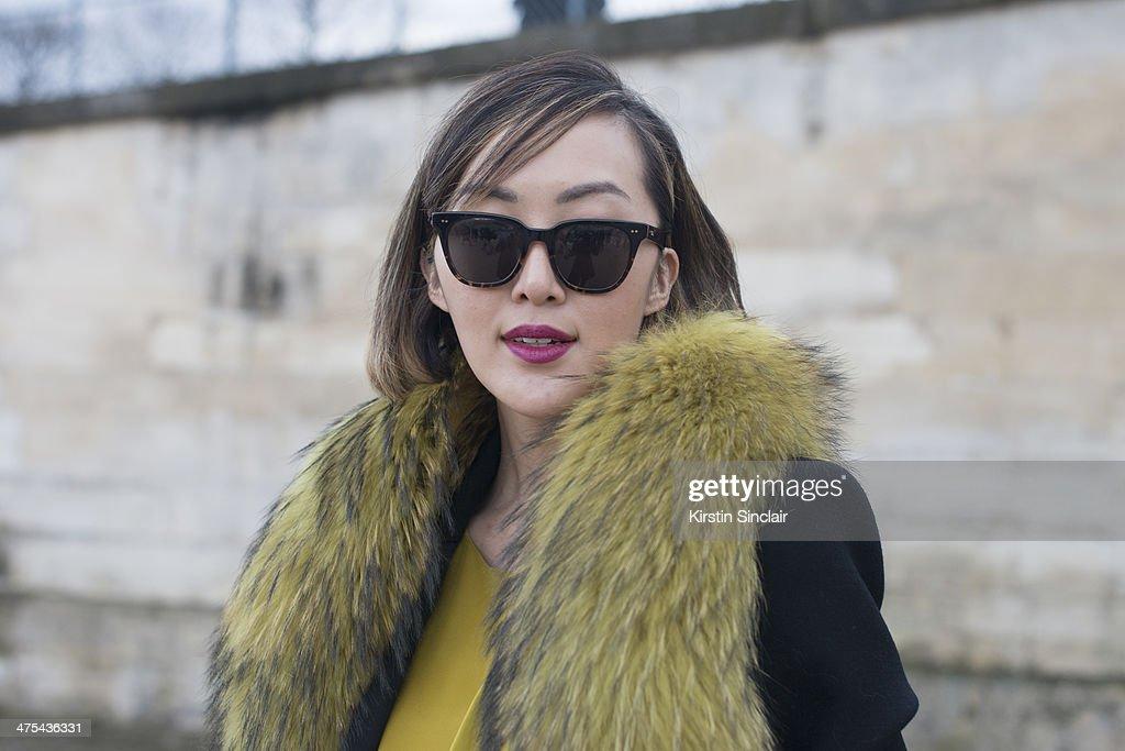 Street Style - Day 3 : Paris Fashion Week - Womenswear Fall/Winter 2014-2015 : News Photo