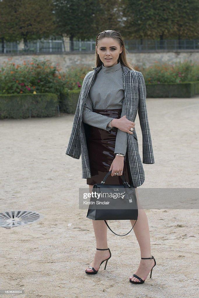 Fashion blogger Christina Bazan on day 7 of Paris Fashion Week Spring/Summer 2014, Paris September 30, 2013 in Paris, France.