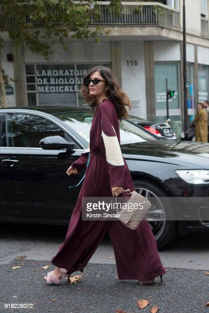 b5f8decad45 Fashion blogger Eleonora Carisi wears a Valentino jumpsuit shoes and bag  and Le Specs sunglasses day