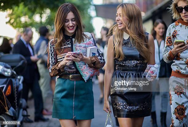 Fashion blogger Gala Gonzalez during Milan Fashion Week Spring/Summer 16 on September 25 2015 in Milan Italy