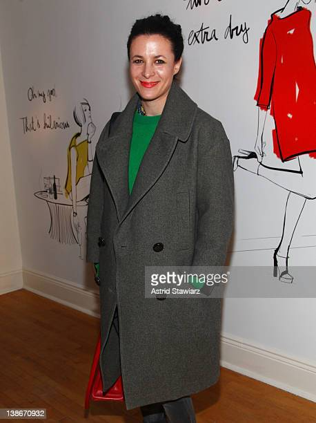 Fashion blogger Garance Dore attends the Kate Spade New York fall 2012 presentation during MercedesBenz Fashion Week on February 10 2012 in New York...