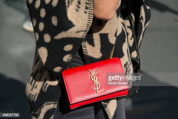 Fashion Blogger Hedvig Opshaug is wearing a Yves Saint Laurent bag on day 4 of Paris Collections Women on September 26 2014 in Paris France