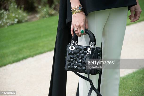 Fashion Blogger Helena Bordan wearing all Dior day 2 of Paris Haute Couture Fashion Week Autumn/Winter 2014 on July 7 2014 in Paris France