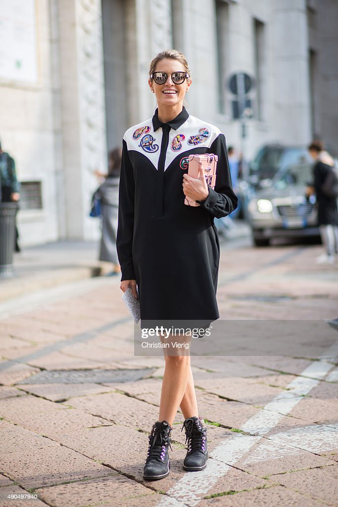 Street Style: Day 5 - Milan Fashion Week SS16 : News Photo