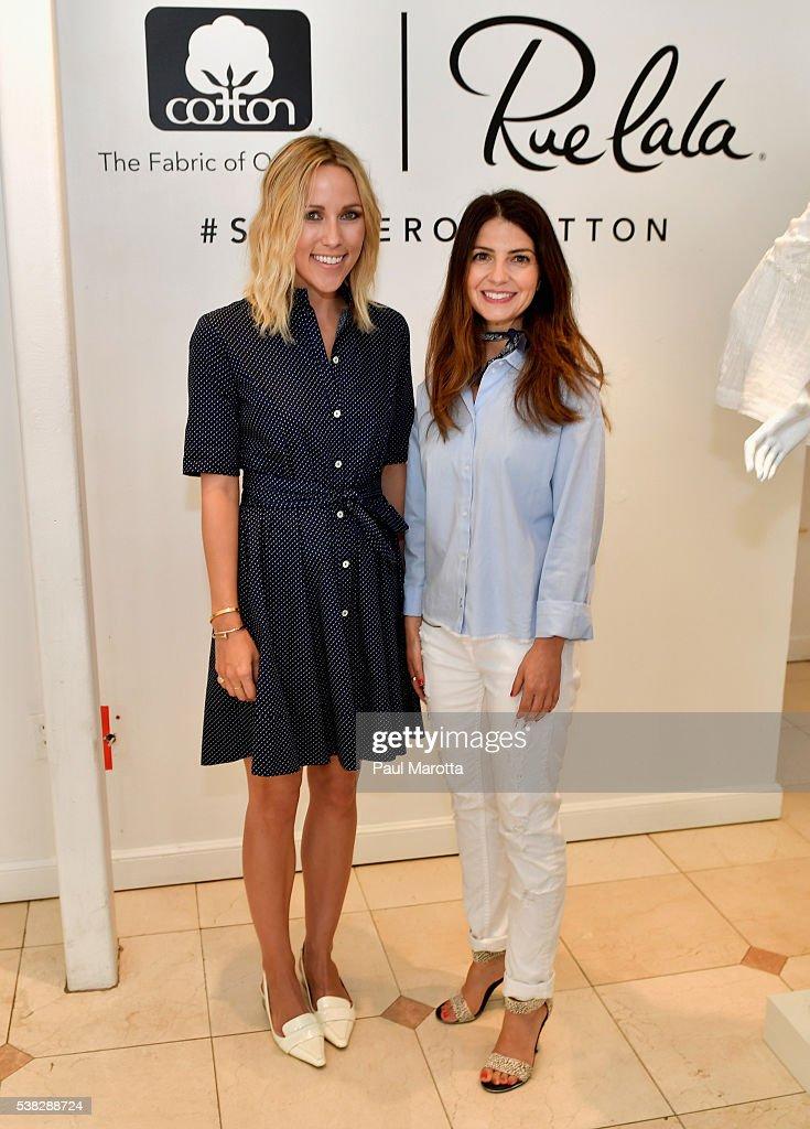 Fashion Blogger Jacey Duprie and guest attend a Rue La La