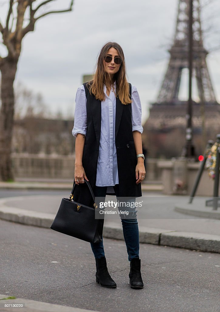 Street Style : Paris Fashion Week - Menswear Fall/Winter 2016/2017 : Day Five : News Photo