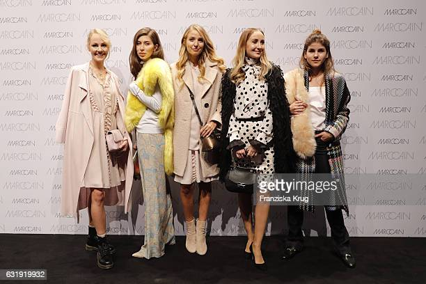 Fashion Blogger Kate Gelinsky Vicky Heiler Leonie Hanne Sandra Kleine Staarman and Michele Kruesi attend the Marc Cain fashion show A/W 2017 at...