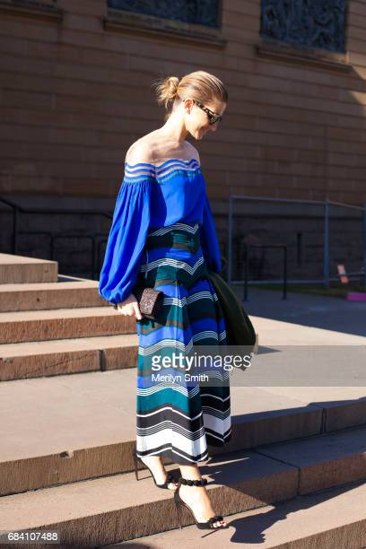Fashion Blogger Kate Waterhouse during MercedesBenz Fashion Week Resort 18 Collections at Carriageworks on May 17 2017 in Sydney Australia