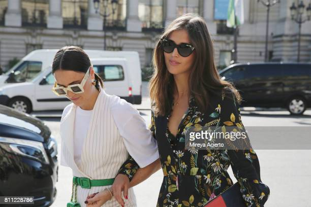 Fashion blogger Lena Lademann and fashion editor and journalist Darja Barannik attend the Chanel Haute Couture fashion show during Haute Couture...