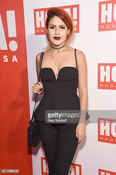 Fashion blogger Luanna PerezGarreaud attends the Hola USA Launch Party at Porcelanosa on September 29 2016 in New York City
