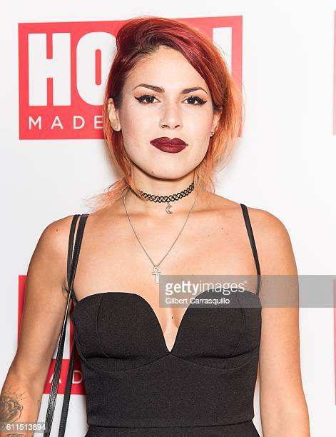 Fashion blogger Luanna PerezGarreaud attends the HOLA USA launch party hosted by Alec Hilaria Baldwin at Porcelanosa on September 29 2016 in New York...