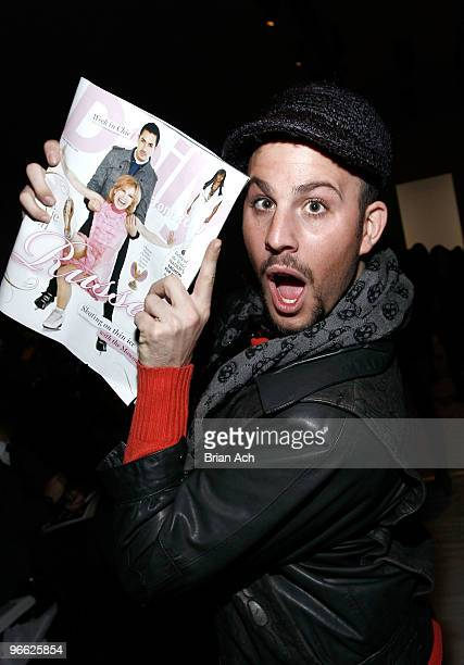 Fashion blogger Micah Jesse attends Yigal Azrouel Fall 2010 fashion show during MercedesBenz Fashion Week on February 12 2010 in New York New York