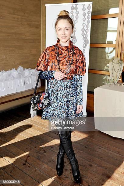 Fashion blogger Nikita Kahn attends Sabine Brouillet's jewelry pop up hosted by Nikita Kahn and Katya Teper at Nobu Malibu on December 14 2016 in...