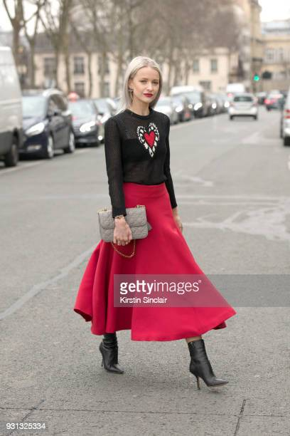 Fashion blogger of inthefrow Victoria McGrath wears all Dior day 2 of Paris Womens Fashion Week Spring/Summer 2018 on February 27 2018 in London...