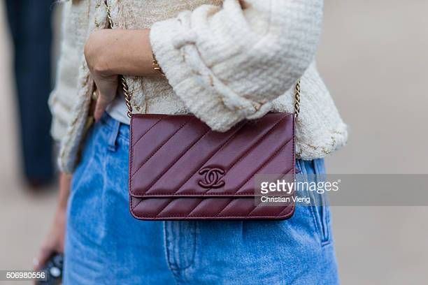 Fashion blogger of the Fashion Guitar Charlotte Groeneveld wearing Chanel outside Chanel during the Paris Fashion Week Haute Couture Spring/Summer...